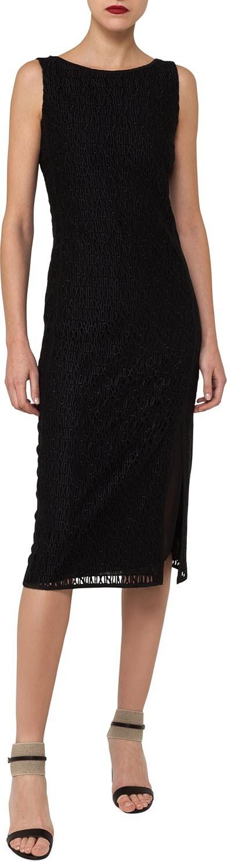 Akris Sleeveless Embroidered Sheath Dress with Side Slit