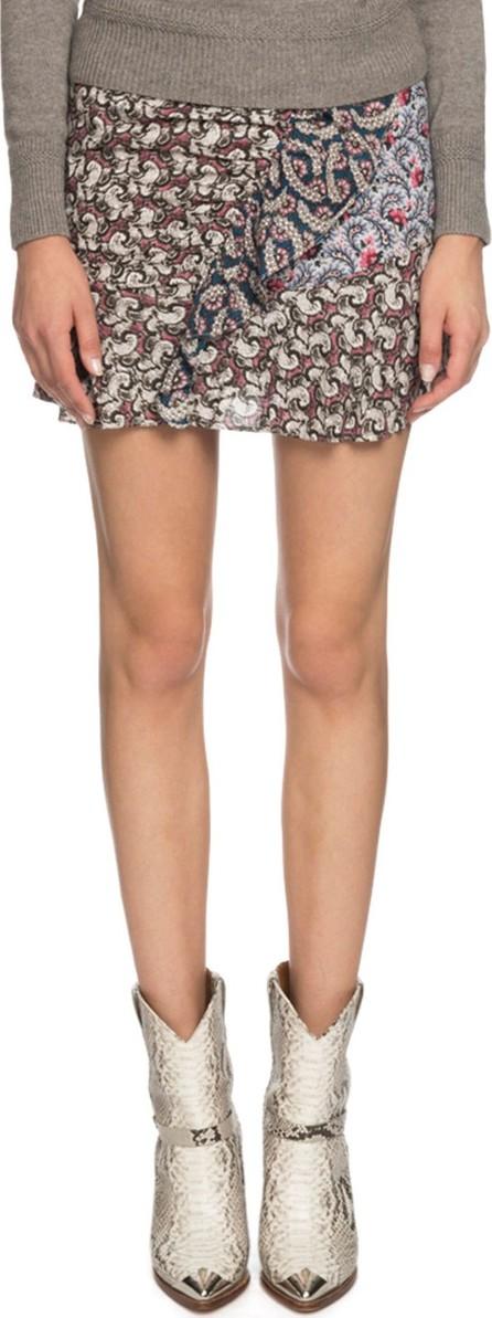Isabel Marant Etoile Loz Printed Ruffle Short Skirt