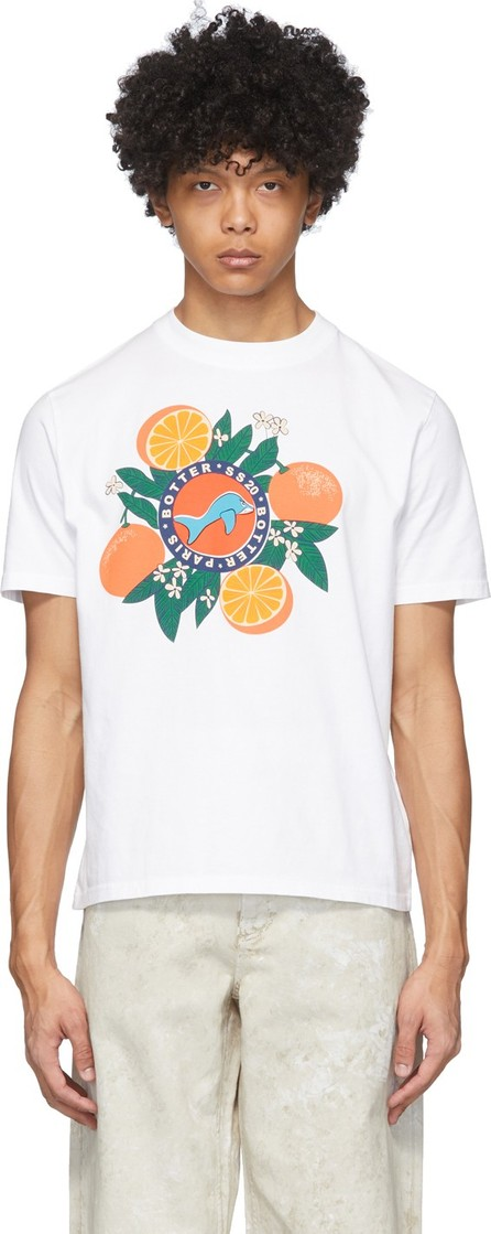 Botter White Orange Silkscreen Print T-Shirt