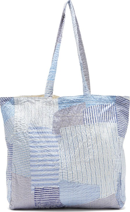 By Walid Patchwork cotton-poplin tote bag