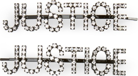 Ashley Williams Justice Set of 2 Crystal Hair Pins