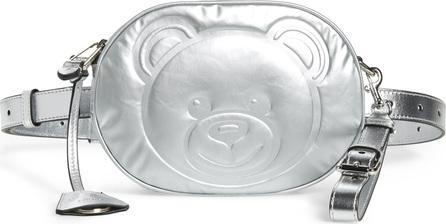 Moschino Silver Teddy Belt Bag