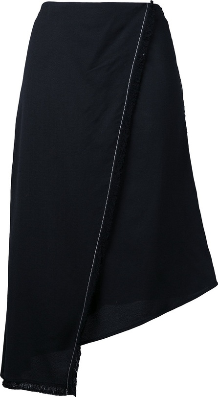 Aeron asymmetric wrap skirt