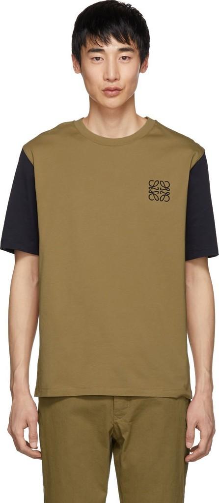 LOEWE Biege & Navy Anagram T-Shirt