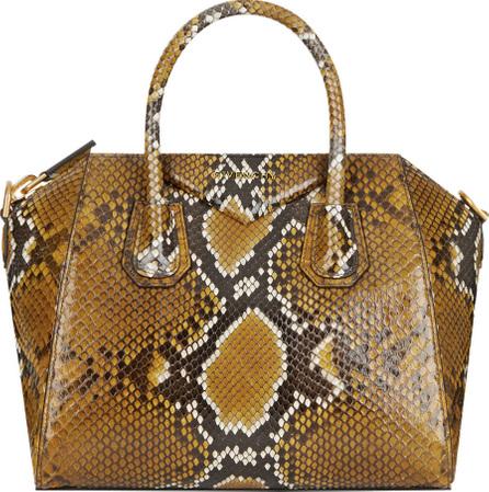 Givenchy Antigona Small Shiny Python Satchel Bag