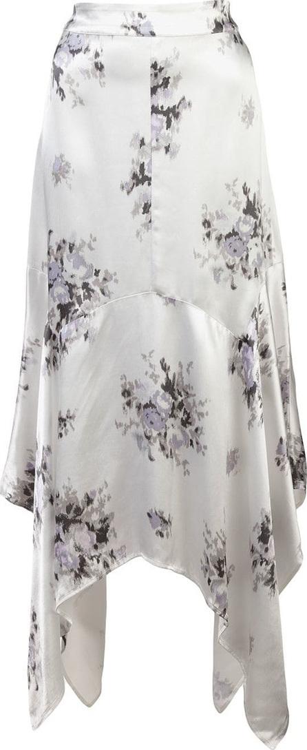 Ganni Floral print asymmetric skirt