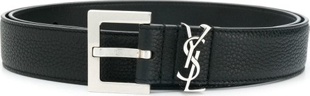 Saint Laurent Leather monogram belt