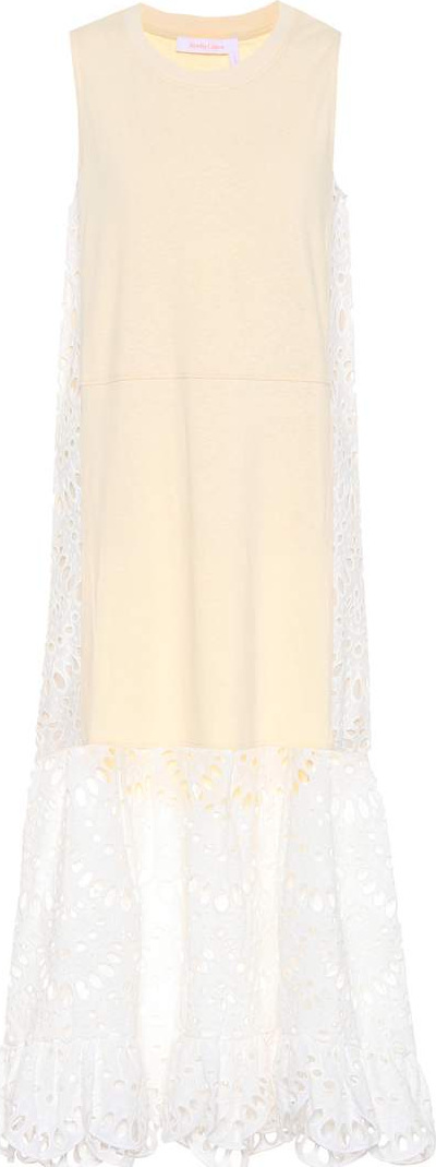See By Chloé Lace-trimmed cotton dress