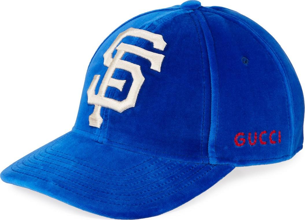 Gucci San Francisco Giants MLB Patch Velvet Baseball Hat - Mkt e15106c97f6