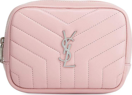 Saint Laurent Loulou Monogram YSL Square Quilted Leather Cosmetics Case