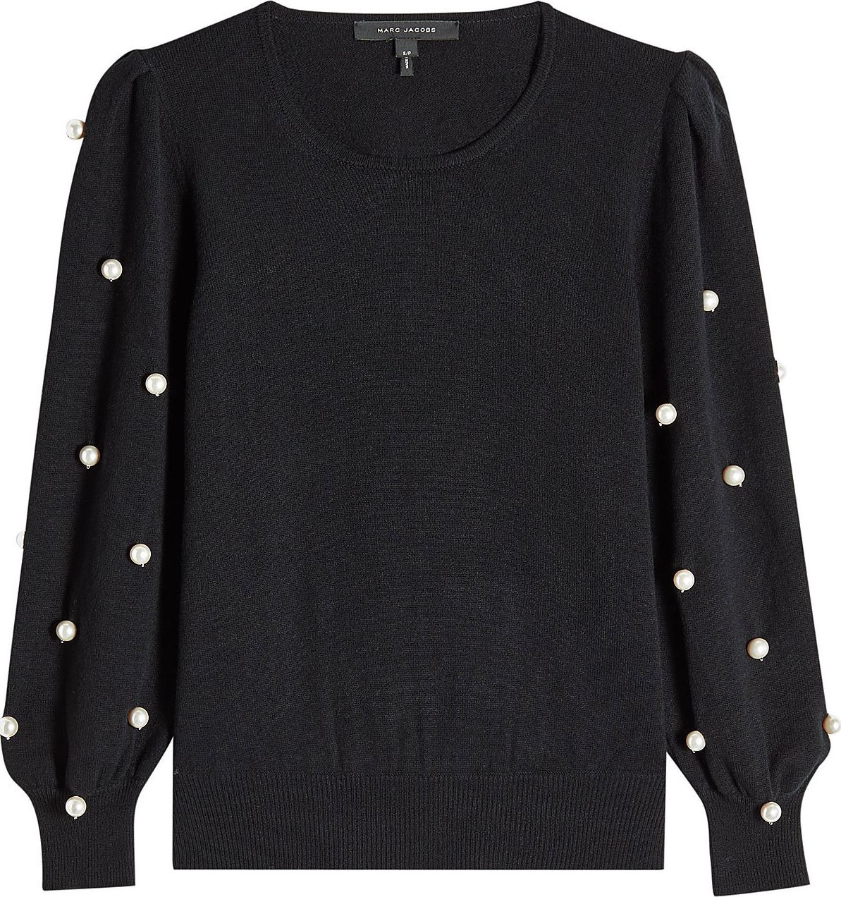 MARC JACOBS - Wool Pullover with Faux Pearls