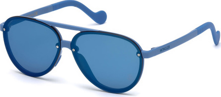 Moncler Aviator Mirrored Overlay-Lens Sunglasses