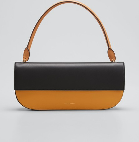 Danse Lente Two-Tone Leather Shoulder Bag