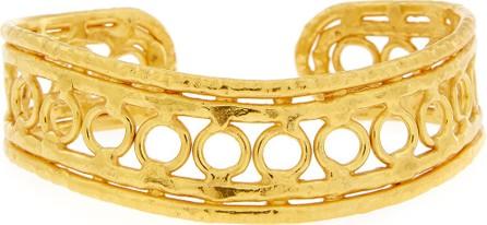 Jean Mahie Ronds 22K Gold Cuff Bracelet