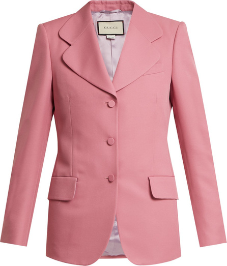 Gucci Single-breasted curved notch-lapel blazer