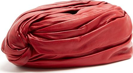 Gucci Twisted-front leather turban hat