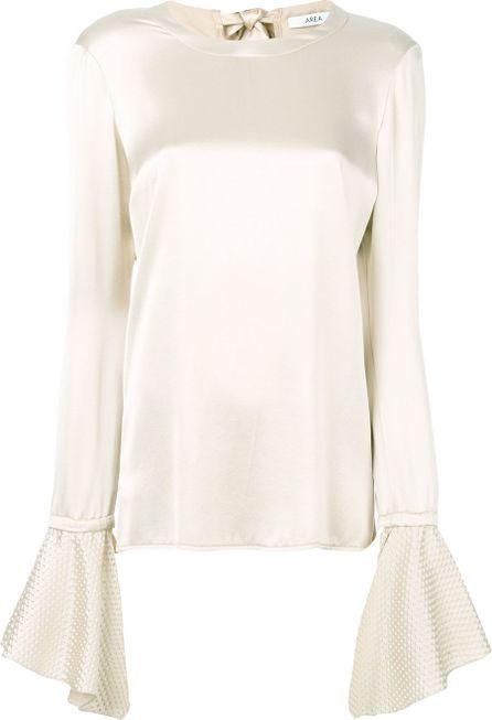 Area long sleeve blouse