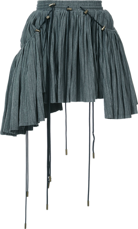 Y / Project Asymmeric pleated mini skirt