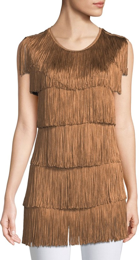 Norma Kamali Stretchy All Over Fringe Top