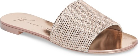 Giuseppe Zanotti Crystal Embellished Slide Sandal