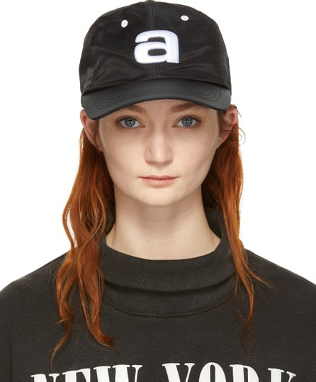 Alexander Wang Black Nylon Baseball Cap