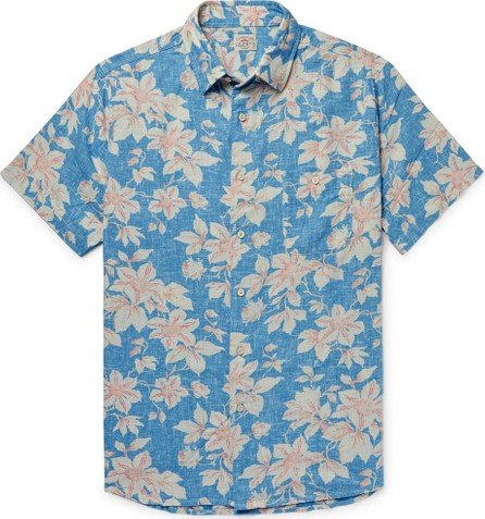 Faherty Slim-Fit Floral-Print Linen-Blend Shirt