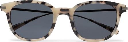 Berluti + Oliver Peoples Miami Square-Frame Tortoiseshell Acetate and Gunmetal-Tone Sunglasses