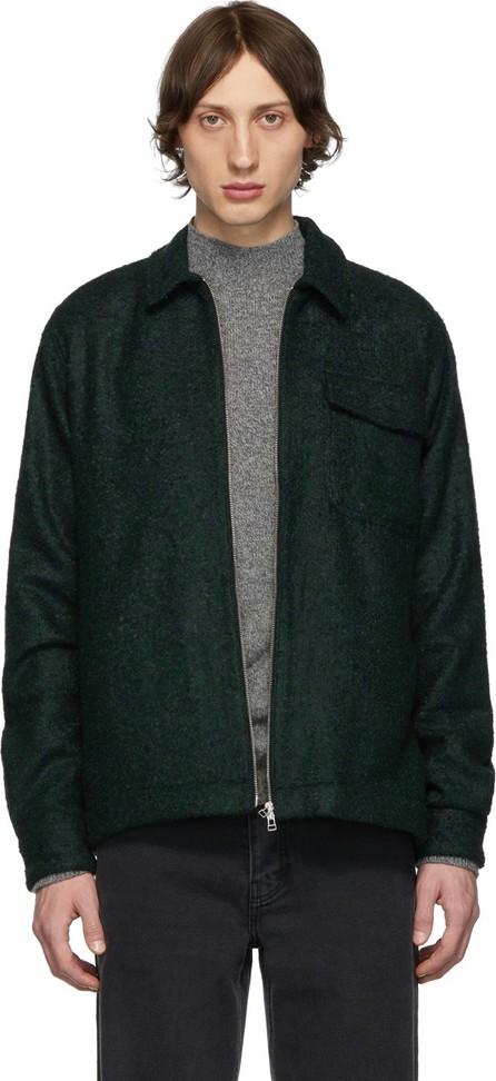 Schnayderman's Black & Green Bouclé Zipshirt Jacket
