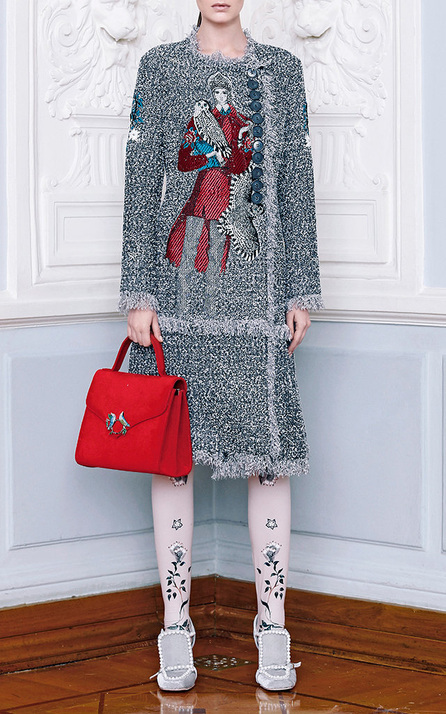 Alena Akhmadullina Embroidered Knee-Length Dress