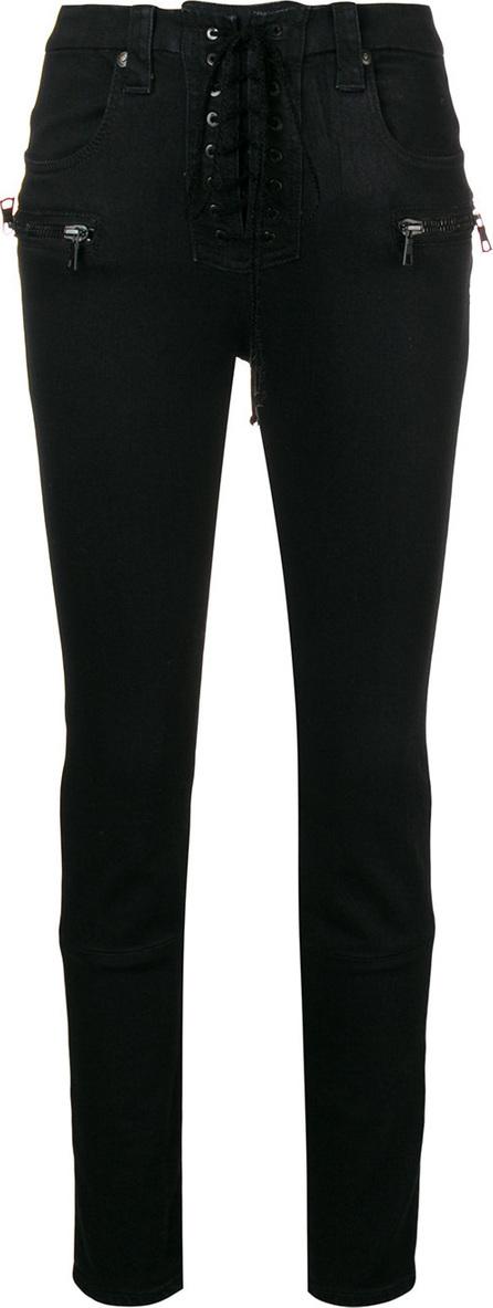 Ben Taverniti Unravel Project Lace-up high waist jeans