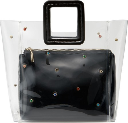 Staud Shirley Jeweled Clear PVC and Leather Tote Bag