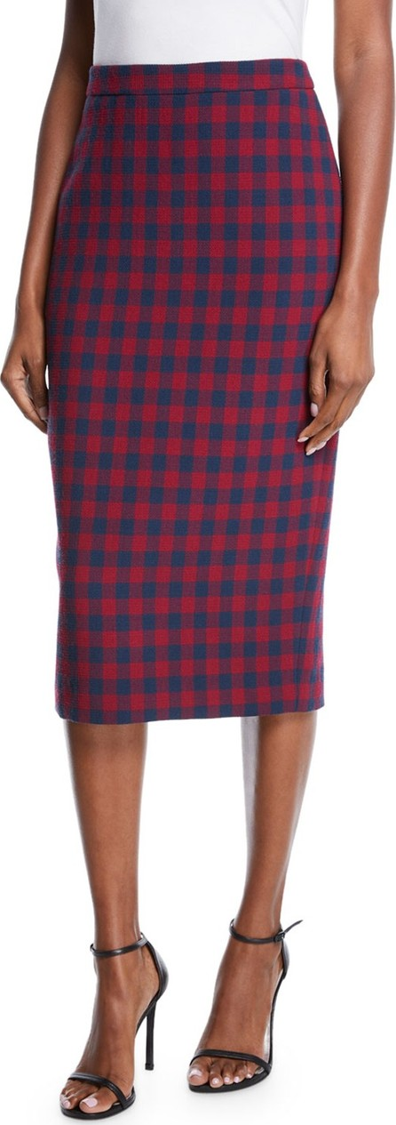 A.L.C. Thea Plaid Midi-Length Pencil Skirt