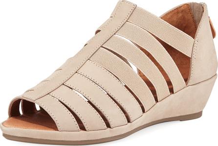 Gentle Souls Lana Caged Nubuck Leather Sandals
