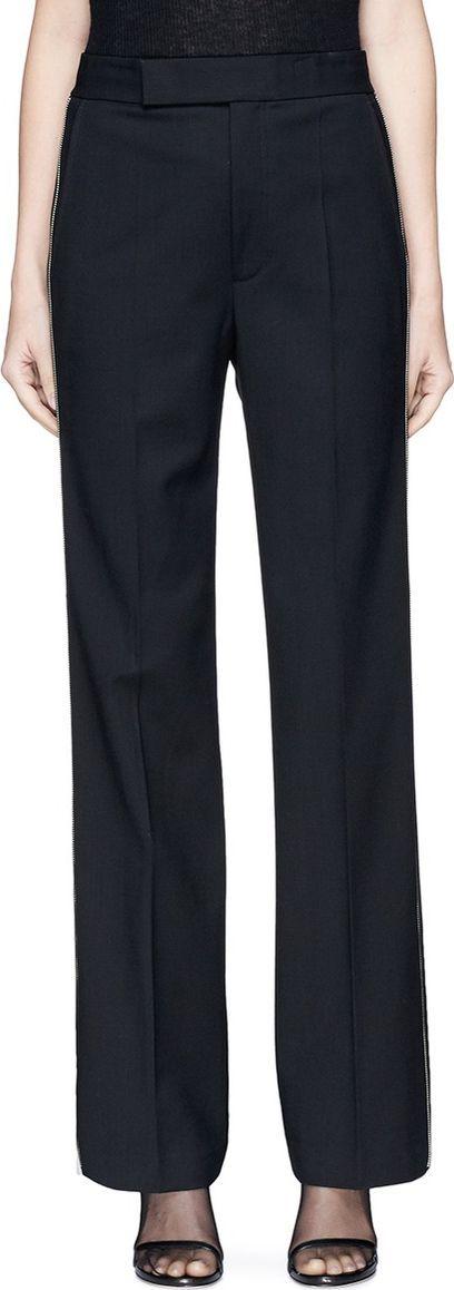 Helmut Lang Zip outseam virgin wool suiting pants