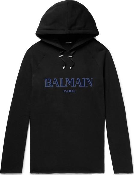 Balmain Logo-Print Loopback Cotton-Jersey Hoodie