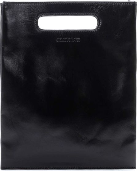 Helmut Lang Mini Flat leather tote