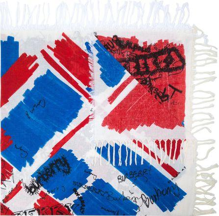Burberry London England scribble print scarf