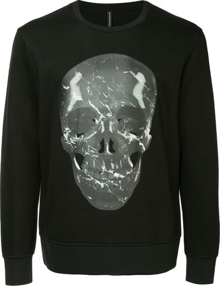 Black Barrett 'Marble skull' print sweatshirt