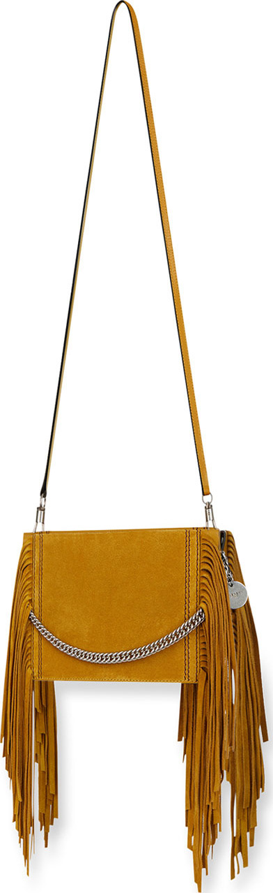 Givenchy Triple Fringed Suede Crossbody Bag
