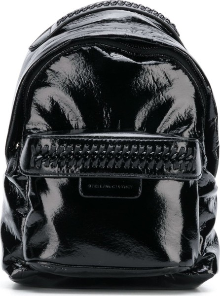 Stella McCartney small faux patent leather falabella backpack