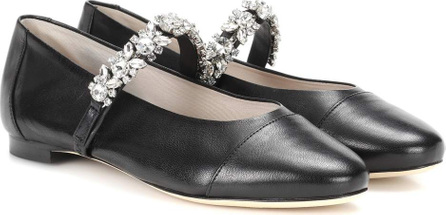 Alexachung Embellished leather ballerinas