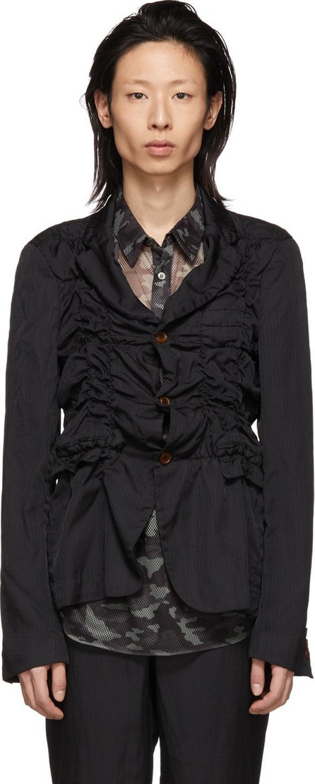 Comme Des Garçons Homme Plus Black Jacquard Stripe Blazer
