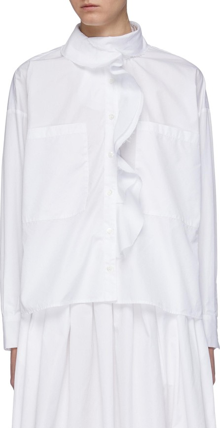 Barena 'Cinzia' patch pocket ruffle placket shirt