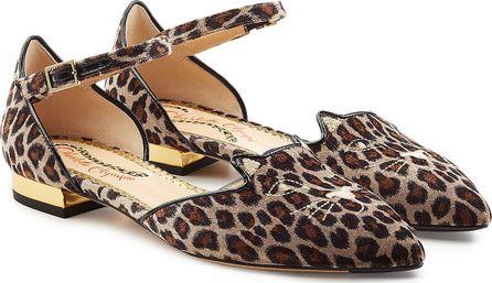 Charlotte Olympia Mid Century Kitty D'Orsay Velvet Sandals