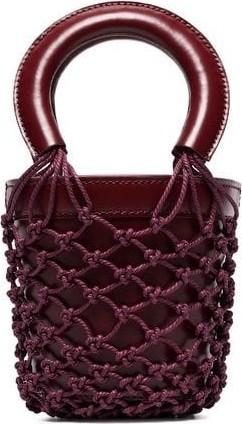 Staud Moreau Mini Leather Bucket Bag