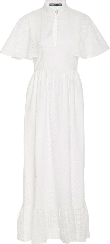 Alexachung Frilled Broderie Anglaise Cotton Dress