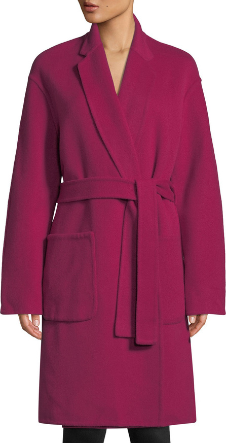 A.L.C. Paige Belted Wool-Blend Coat