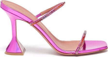 Amina Muaddi '''''''Gilda' crystal strap heeled sandals