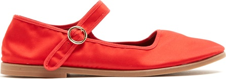 Alexachung Mary-Jane satin flats