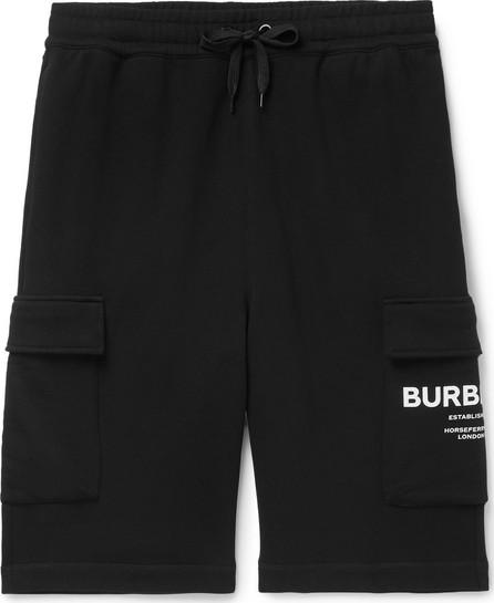 Burberry London England Logo-Print Loopback Cotton-Jersey Cargo Shorts
